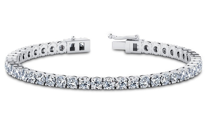 cubic zirconia tennis bracelet in solid sterling silver. Black Bedroom Furniture Sets. Home Design Ideas