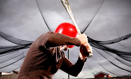 30-Minutes in Batting Cage or a Batting-Cage Party with Pizza and Sodas for 4 or 12 at Funworks! (Up to 62% Off)