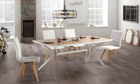 Pack de 2 o 4 sillas de diseño escandinavo Naike
