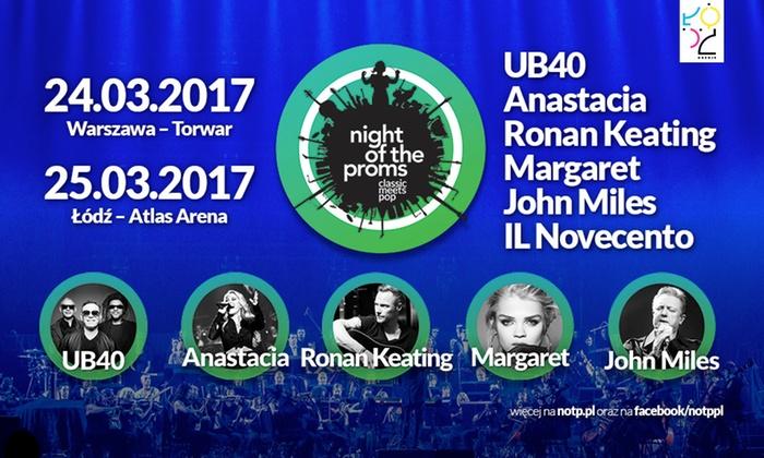 Od 49 zł: wejście na koncert Night of the Proms – Classic Meets Pop 2017 w Warszawie i Łodzi