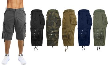 factory authentic 416bd 1238c image placeholder Galaxy By Harvic Men s Classic Fit Distressed Cargo  Shorts ...