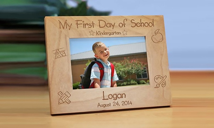 GiftsForYouNow.com: One or Two Custom First Day of School Picture Frames from GiftsForYouNow.com (Up to 52% Off)
