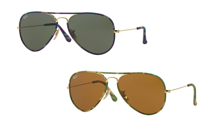 Rayban Aviator Sunglasses  62 off on ray ban uni sunglasses groupon goods