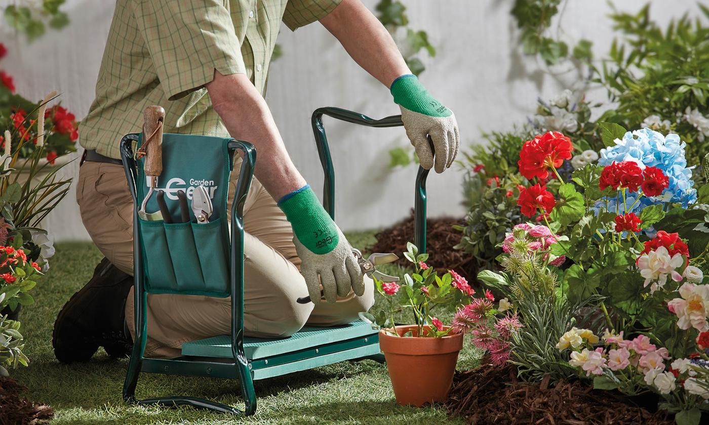 Garden Gear Kneeler and Seat with Tool Bag