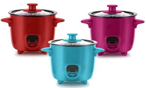 Personal Mini Rice Cooker with Cook/Warm Function