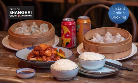 Chinese Dining Experience for 2 ($25) or 4 People ($49) at Taste Of Shanghai, 5 Locations (Up to $91.20 Value)