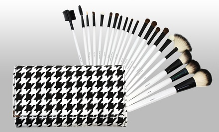 20-Piece Houndstooth Cosmetic-Brush Set