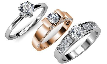 Bagues de la marque Her Jewellery ornées de cristaux Swarovski®
