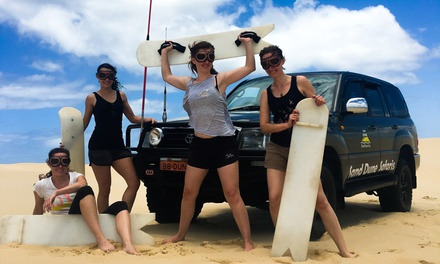 Sandboarding, Sandsurfing + Ride Experience for One ($28) or Two People ($56) with Sand Dune Safaris (Up to $70 Value)