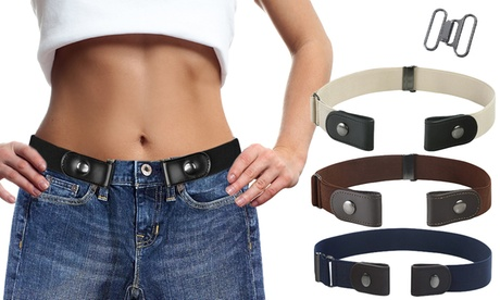 1 ou 2 ceintures élastiques à pression pour femme, 4 coloris