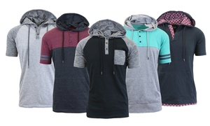 Men's Marled Henley Hoodie with Contrast at Men's Marled Henley Hoodie with Contrast, plus 6.0% Cash Back from Ebates.