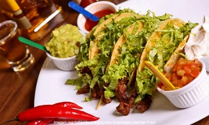 Guadalajara Mexican Food: Guadalajara Mexican Food – Belém: rodízio mexicano no jantar para 1, 2 ou 4 pessoas