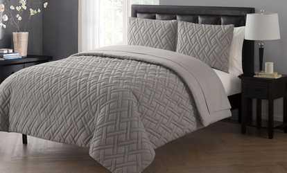 image placeholder image for embossed microfiber comforter set 5 or 7piece