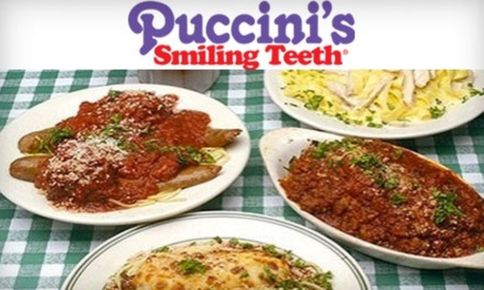 Puccini's Smiling Teeth - Louisville: $10 for $20 Worth of Italian Fare and Drinks at Puccini's Smiling Teeth