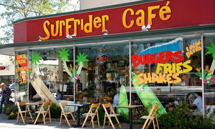 Surfrider Café - Downtown Santa Cruz: $10 for $20 Worth of Laid-Back Eats at Surfrider Café