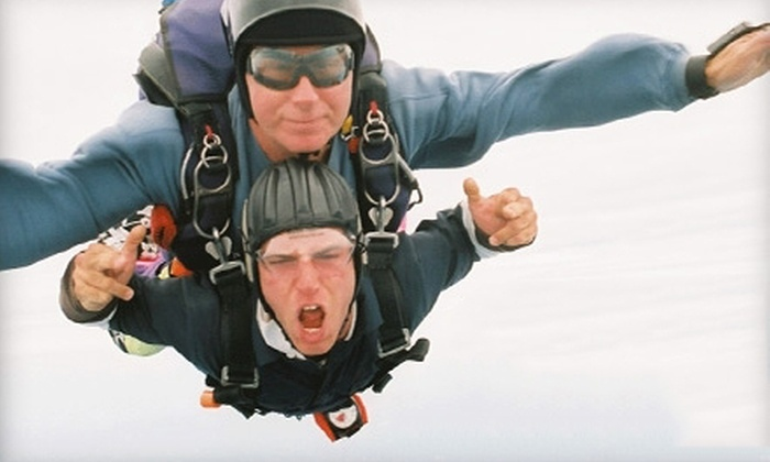 Skydive Pepperell - Pepperell: $149 for a Tandem Skydive Jump from Skydive Pepperell ($235 Value)