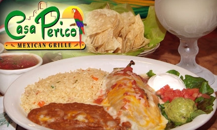 Casa Perico - Multiple Locations: $10 for $20 Worth of Mexican Fare and Drinks at Casa Perico