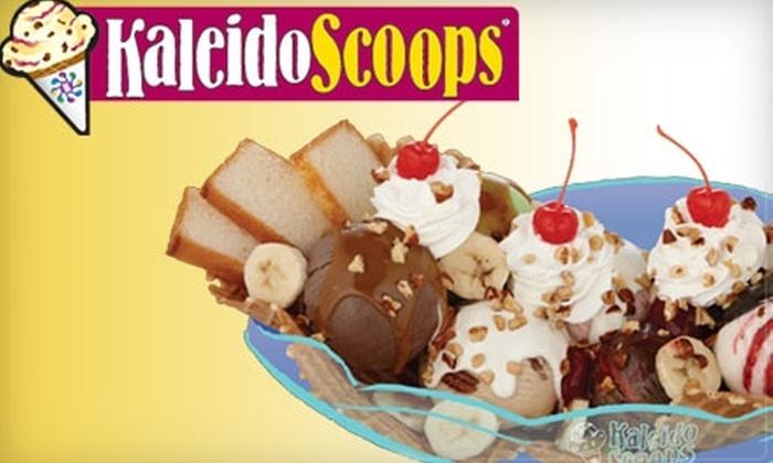 Kaleidoscoops - Springlake, University Terrace: $5 for $12 Worth of Ice Cream at Kaleidoscoops
