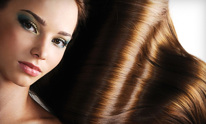Salon Studio and Spa - Somerset Manor: Express Blowout Treatment or Keratin Complex Smoothing-System Treatment at Salon Studio and Spa in Prairie Village