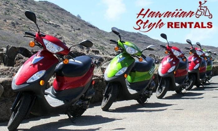 Hawaiian Style Rentals & Tours - Waikiki: $14 for a Half-Day Moped Rental at Hawaiian Style Rentals ($29 Value)