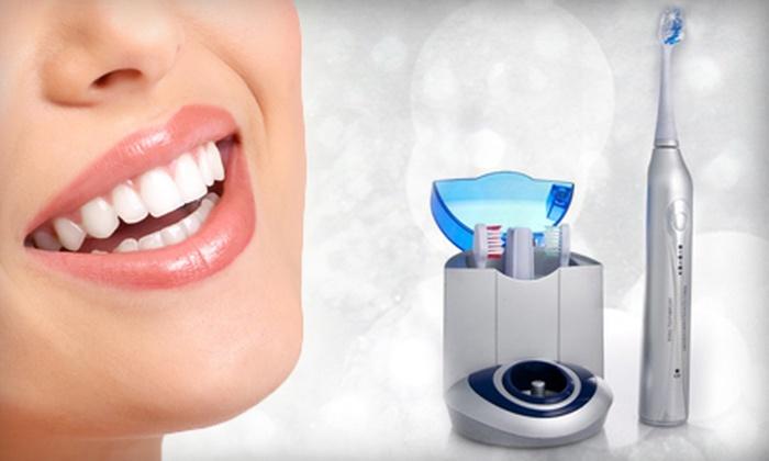 Bling Dental: Diamond Elite Ultrasonic Toothbrush or Icing At-Home Whitening Kit from Bling Dental (70% Off)