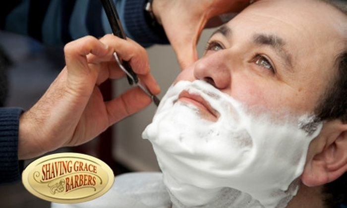 Shaving Grace Barbers - Multiple Locations: $35 for Two Haircuts or One Haircut with Straight-Razor Shave at Shaving Grace Barbers (Up to $70 Value)