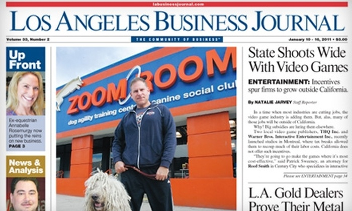 "<i>Los Angeles Business Journal</i>: $30 for One-Year Subscription to the ""Los Angeles Business Journal"" ($99.95 Value)"