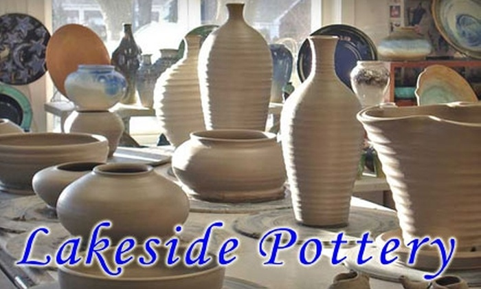 Lakeside Pottery Ceramic School and Studio - Springdale - Glenbrook - Belltown: $50 for Potter's Wheel Workshop and Pot at Lakeside Pottery in Stamford ($100 Value)