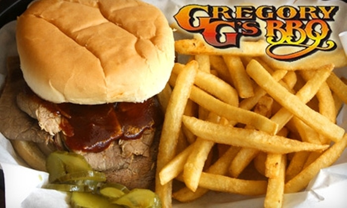 Gregory G's BBQ - Multiple Locations: $2 for One Barbecue Sandwich at Gregory G's BBQ ($4.99 Value)