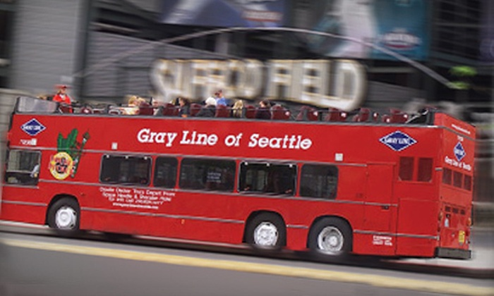 Gray Line Of Seattle - Seattle: Two-Day Pass for Unlimited Hop-On, Hop-Off Double-Decker Bus Tours from Gray Line of Seattle (Up to 53% Off). Four Options Available.