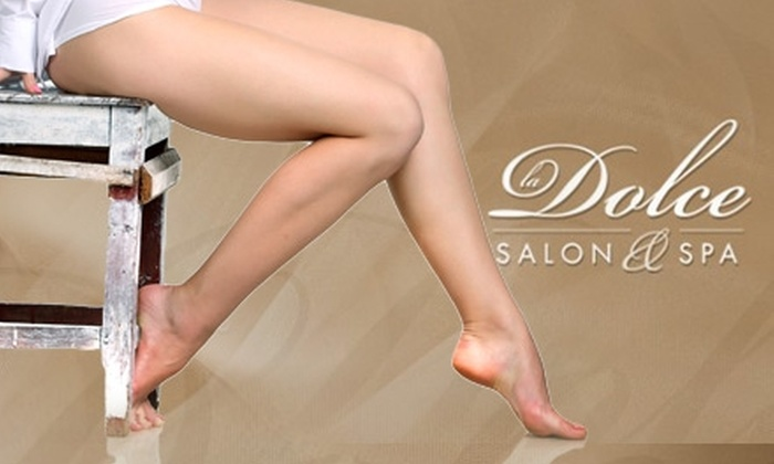 La Dolce Salon & Spa - Carmel: $125 for Three Sessions of Laser Hair Removal at La Dolce Salon & Spa (Up to $450 Value)