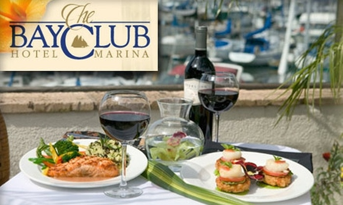 Bay Club Hotel and Marina (Bay Club Bar & Grill) - La Playa: $20 for $45 Worth of Gorgeous Views and Delicious Dishes at Bay Club Bar and Grill