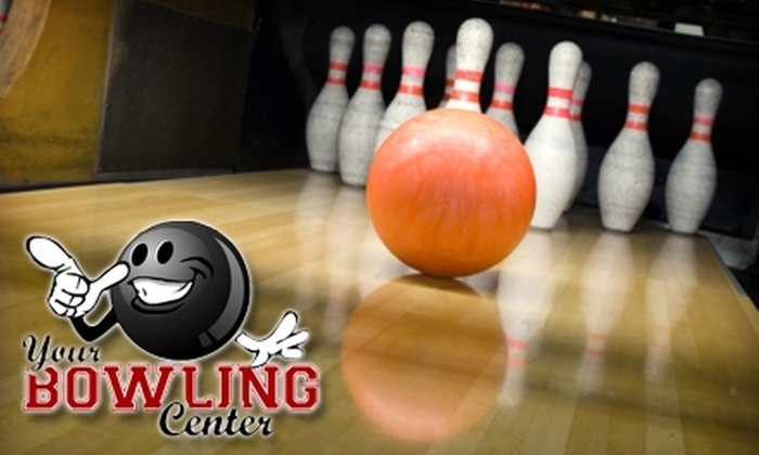 Your Bowling Center - Midway Station: $25 for One Hour of Bowling and Shoe Rental for Five People, One Large Pizza, and One Large Soda Pitcher at Your Bowling Center in Douglasville (Up to $58 Value)