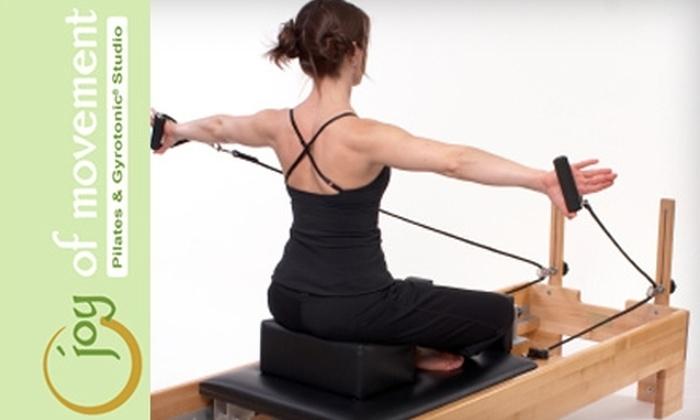 Joy of Movement Pilates and Gyrotonic Studio - Santa Cruz: $49 for Three Group Reformer Classes at Joy of Movement Pilates and Gyrotonic Studio ($105 Value)