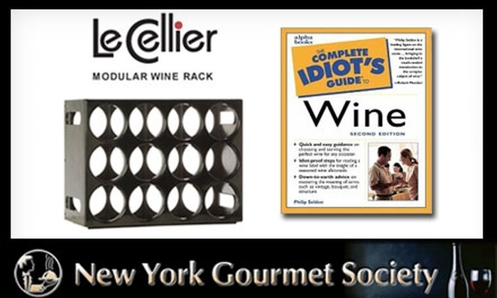 """New York Gourmet Society: $17 for Le Cellier Wine Rack and """"The Complete Idiot's Guide to Wine"""" from Wine Racks International ($34 Value)"""