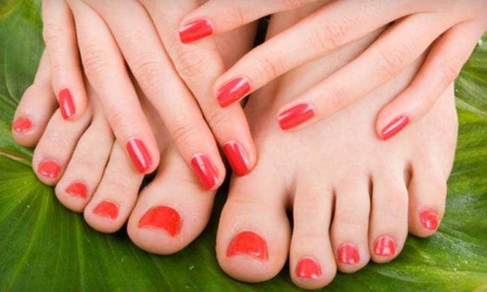 Amanda Reinhart & Cindy Jorgensen at jmz Spa-lon - The Natural Nail Gal: Ultimate Spa Mani-Pedi or Gelish Mani-Pedi from Amanda or Cindy at jmz Spa-lon (Up to 57% Off)