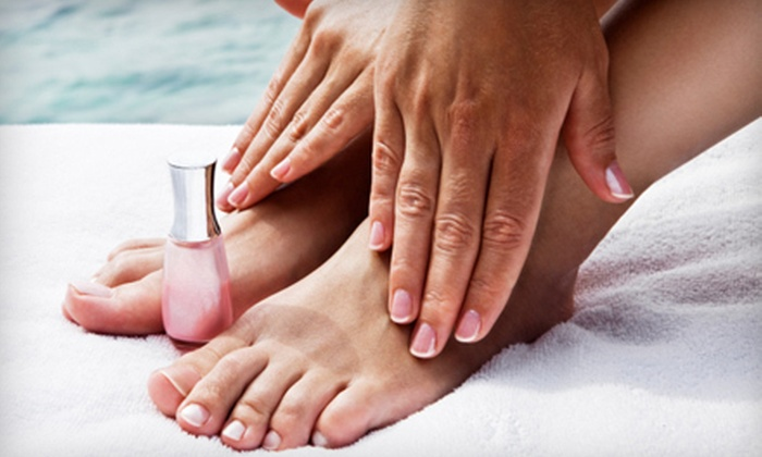 Renewed Spirit, LLC - East Lansing: Mani-Pedi or Haircare Package with Cut, Partial Highlights, and Conditioning at Renewed Spirit, LLC (Up to 55% Off)