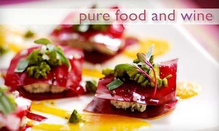 Pure Food and Wine - Gramercy Park: $10 for $20 Worth of Lunch Fare or $20 for $40 Worth of Dinner Fare at Pure Food and Wine, Plus 15% Off an Online Retail Purchase at Oneluckyduck.com