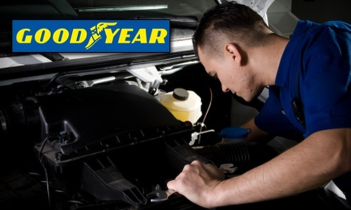 Wood & Fullerton Goodyear Tire and Auto Service - Multiple Locations: $20 for a Synthetic Blend Oil Change, New Wipers, Tire Rotation and More at Wood & Fullerton Goodyear Tire and Auto Service($55 Value). Choose from Nine Locations.