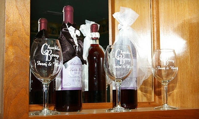 Chuckleberry Farm & Winery - Bloomfield: $10 for a Wine Tasting for Two, Souvenir Glasses, and a Bottle of Wine at Chuckleberry Farm & Winery in Bloomfield ($20 Value)