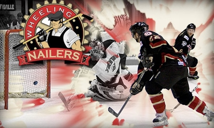 Wheeling Nailers Hockey - Pittsburgh: $10 for One Platinum/Gold–Level Ticket to the Wheeling Nailers. Buy Here for Friday, March 26, at 7:35 p.m. vs. Kalamazoo Wings. See Below for Additional Games. ($18.50 Value)