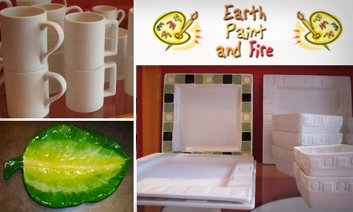 Earth Paint and Fire - Woodstock: $15 for $30 Worth of Paint-Your-Own Pottery at Earth Paint and Fire