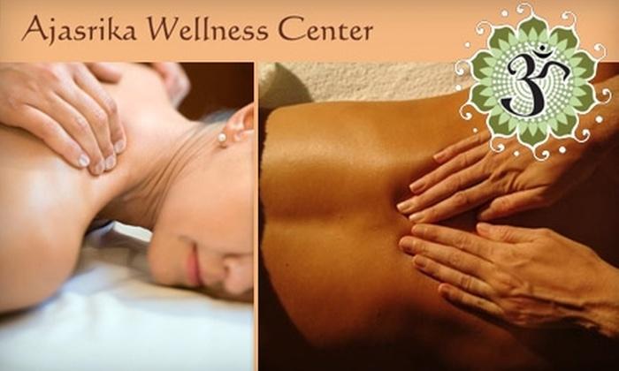 Ajasrika Wellness Center - Orange: $30 for a One-Hour Deep-Tissue Massage at Ajasrika Wellness Center ($60 Value)