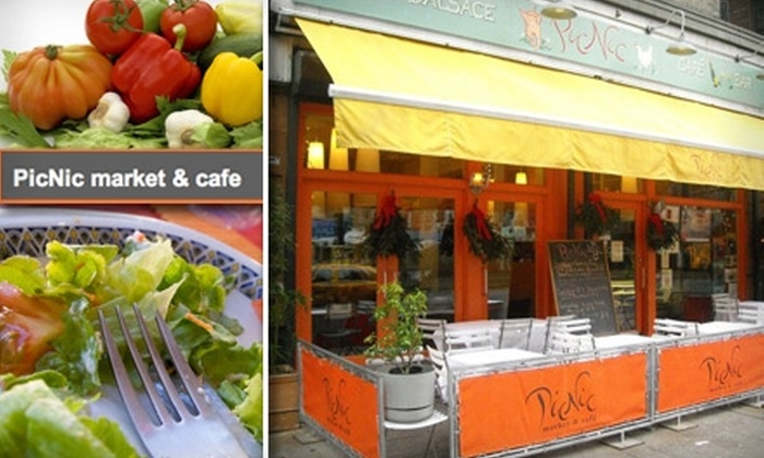 PicNic Market & Cafe - Astoria: $35 for $75 Worth of French Cuisine and Drinks at PicNic Market & Cafe Bistro D'Alsace