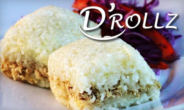 D'Rollz - Bathurst Manor: $10 for a $20 Gift Card Toward Asian-Inspired Cuisine at D'Rollz