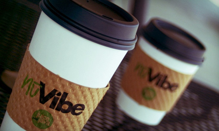 NuVibe Juice & Java - Lockport: Espresso Drinks, Smoothies, and Sandwiches at NuVibe Juice & Java in Lockport (Half Off). Two Options Available.