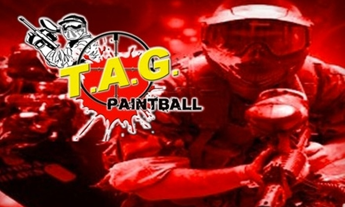 T.A.G. Paintball - Hollister: $19 for Admission, Equipment Rental, and 100 Paintballs at T.A.G. Paintball ($39.99 Value)