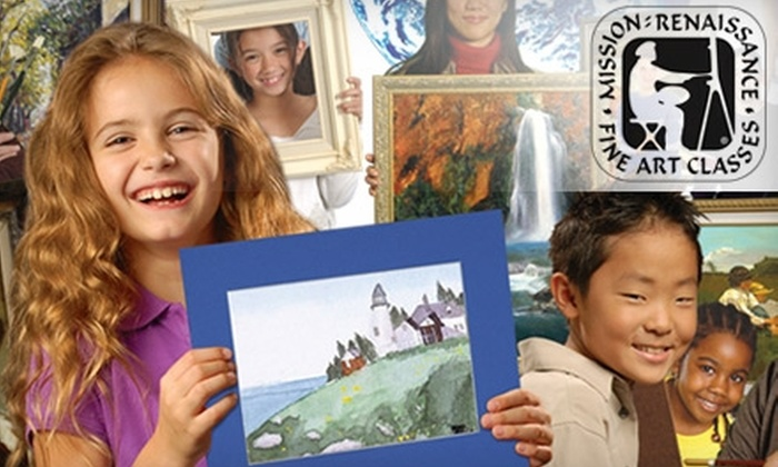 Mission: Renaissance - Multiple Locations: $70 for Four Kids' Fine-Art Classes at Mission: Renaissance (Up to $140.25 Value). Choose from Four Locations.