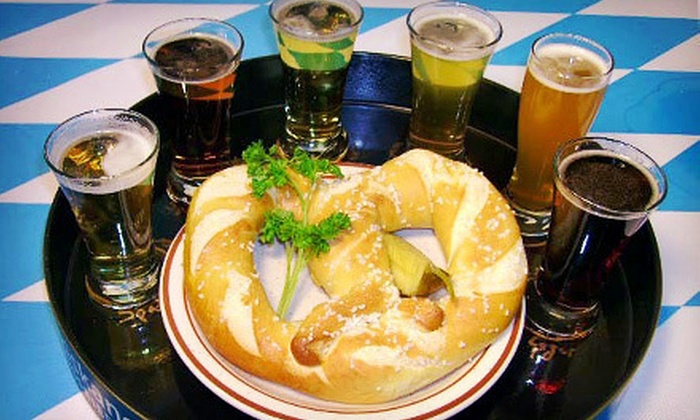 Helga's German Restaurant and Deli - City Center: Bier Sampler or a German Dinner for Two or Four at Helga's German Restaurant and Deli in Aurora (Up to 56% Off)