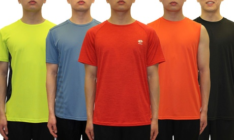 Lotto Men's Cool Performance Short Sleeve Active Tee and Tanks